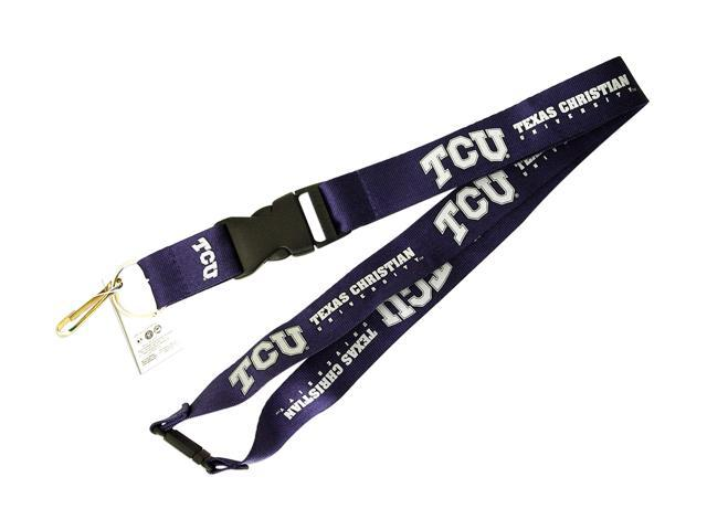 TCU Horned Frogs Texas Christian Lanyard Keychain Id Holder Ticket