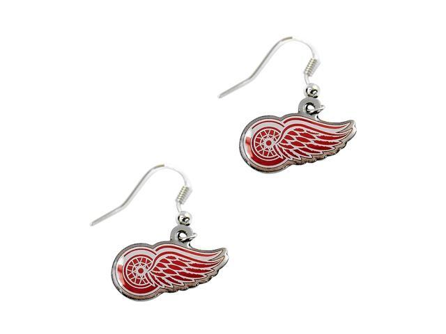 Detroit Red Wings Dangle Logo Earring Set Nhl Charm Gift