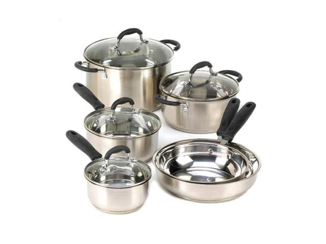 Koehler Home Kitchen Decorative Stainless Steel Deluxe Cookware Collection Set