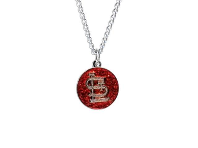 Saint Louis Cardinals Glitter Necklace Mlb Team Logo Charm Pendant Gift