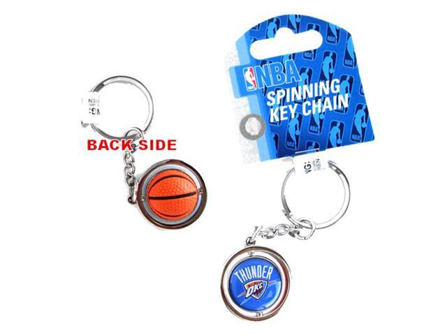 Oklahoma city thunder 3d basketball spinning key chain