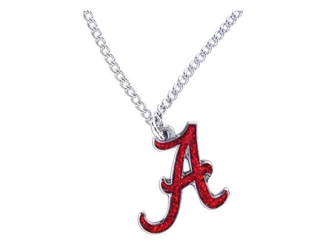 Alabama Tide Glitter Necklace Ncaa Team Logo Charm Pendant Gift