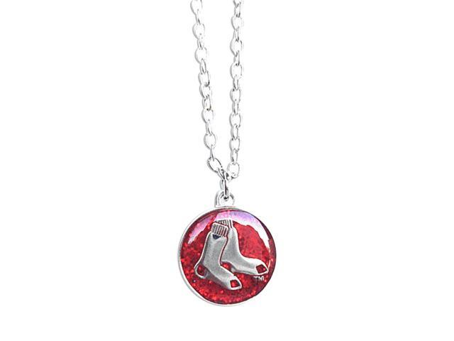 Boston Red Sox Glitter Necklace Mlb Team Logo Charm Pendant Gift