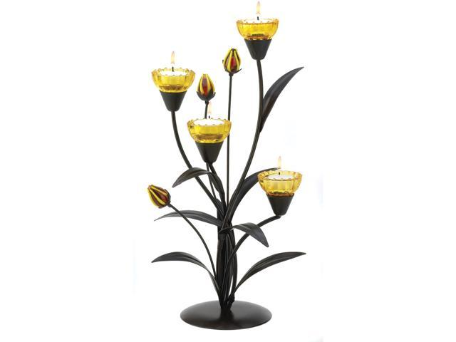 Koehler Home Indoor Decorative Tiger Lily Tealight Candle Tree Lamp Holder Wedding Coffee Table   Centerpiece Decoration