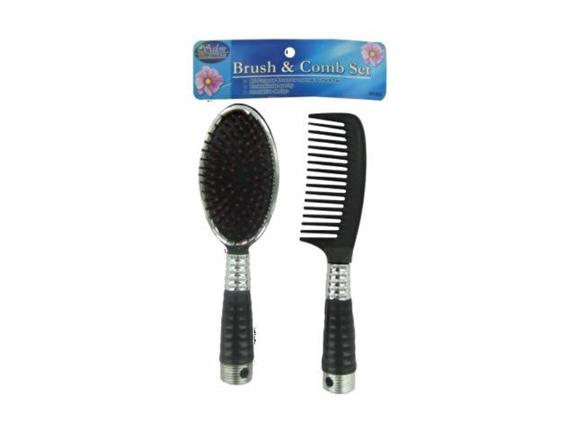 Kole Imports Beauty Brush and Comb Set Of 24 Pack With Hollow Handles Grip