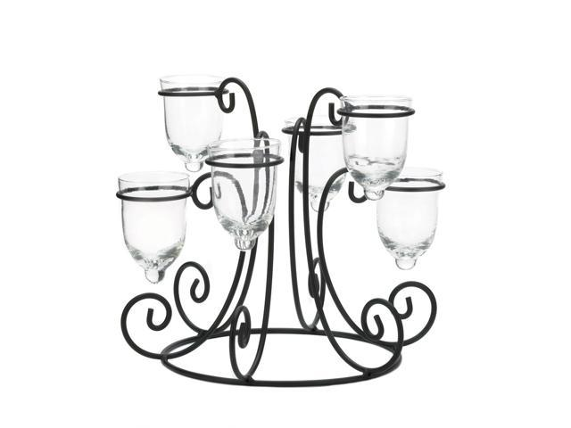Home Indoor Decorative Holiday Decor Wrought Iron Candle Centerpiece Display
