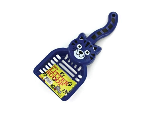 Tinys Home Indoor Outdoor Pet Dog Cat Kitty shaped Dispose litter Scoop Plastic Pack 24