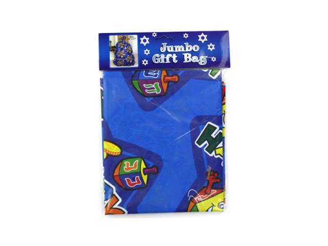 Bulk Buys Holiday Party Supplies Jumbo Hanukkah Plastic Gift Bags Each Pack 12, 24 Pack