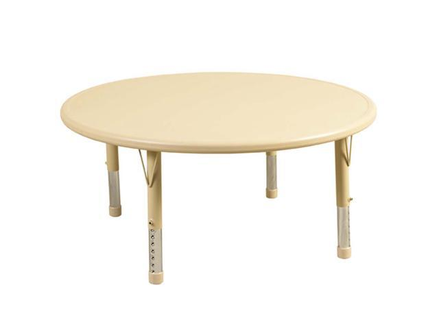 ECR4Kids Kids Children Adjustable 45 Inch Round Resin Activity Play Table Desert Sand