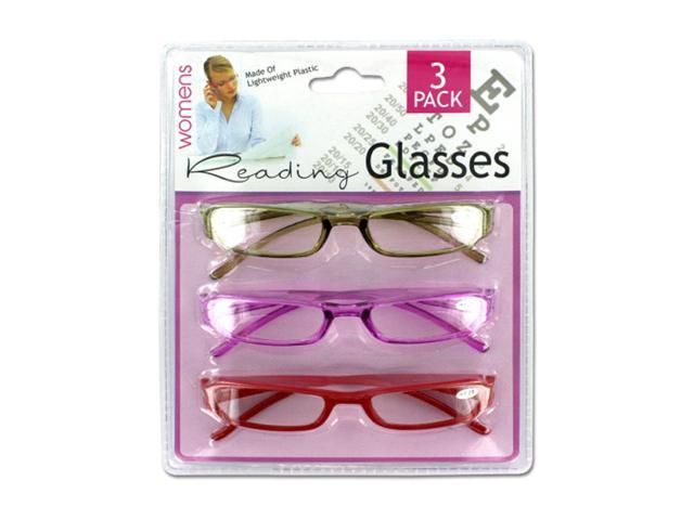 Womens Vision Care Lightweight Stylish Plastic Reading Eye Glasses Pack of 4
