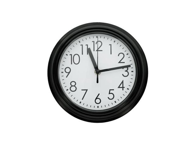 Bulk Buys Indoor Home Decorative 9.8 Round Wall Clock Black Pack of 4