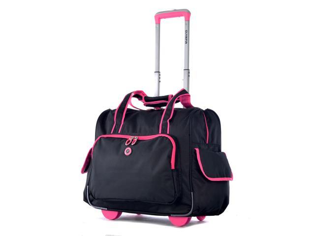 Outdoor Travel Laptop Briefcase Deluxe Fashion Rolling Overnighter Pink