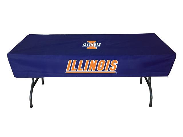 Rivalry Sports College Team Logo Illinois 6 Foot Table Cover