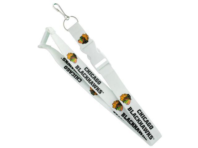 Aminco International Chicago Blackhawks Team Logo Lanyard Keychain Id Ticket Holder White