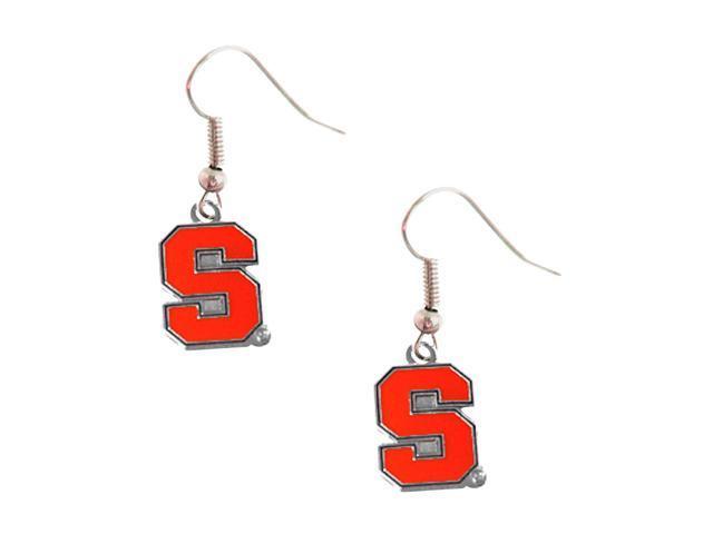NCAA Syracuse Orangemen Sports Team Logo Fanshop Collectible Girls Fashion Wear Dangle Earrings