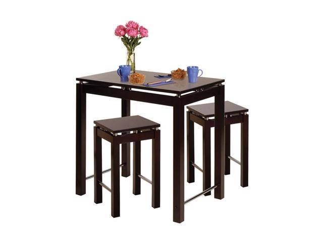 kitchen set island table with 2 stools dining furniture set dark