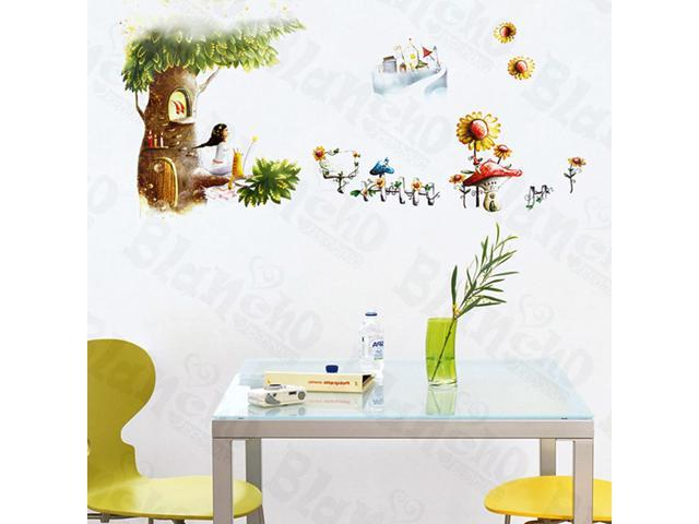 Home Kids Imaginative Art Eden - Medium Wall Decorative Decals Appliques Stickers