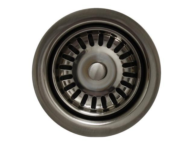 Whitehaus Collection Waste Disposer Trim For Deep Fireclay Sink Applications-Brushed Nickel-WH202-BN