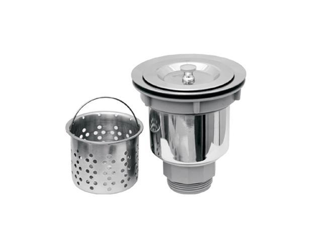 Whitehaus Collection Basket Strainer with Deep Removable Basket-Stainless Steel-NRNW35A-SS