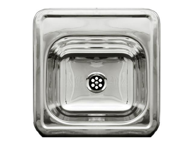Square Drop-In Entertainment/Prep Sink With A Smooth Surface-Polished Stainless Steel-WH692ABL
