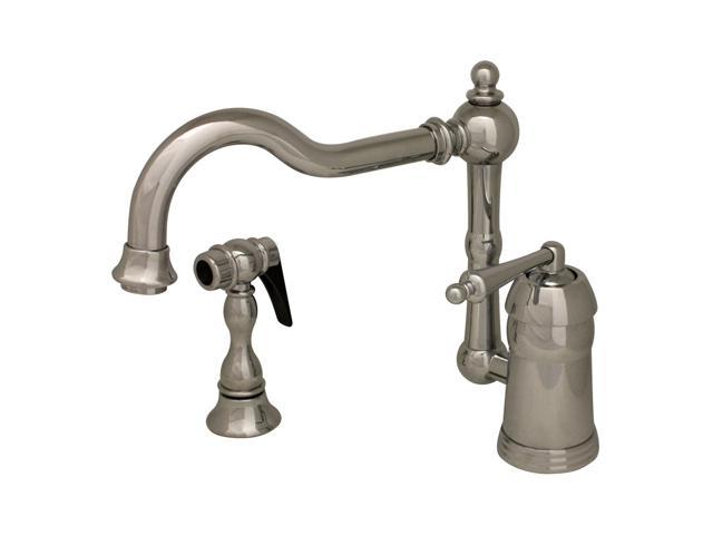 Legacyhaus Single Lever Faucet With Traditional Swivel Spout And Solid Brass Spray-Polished Chrome