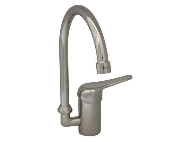 Flamingo III Single Hole/Lever Handle Faucet With Gooseneck Swivel Spout-Polished Chrome
