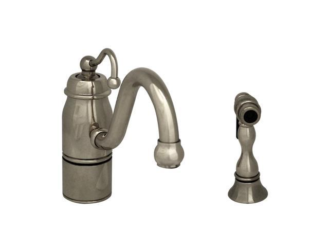 Beluga Single Handle Faucet With Curved Swivel Spout, Curved And Solid Brass Spray-Polished Chrome