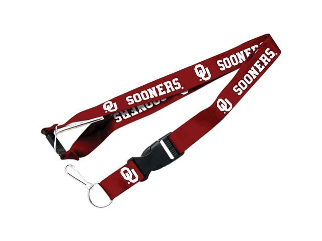 Oklahoma Sooners Clip Lanyard Keychain Id Holder Ticket