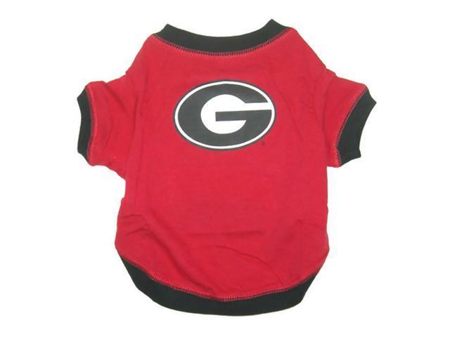 Pets First Sports Team Logo Georgia Bulldogs Dog Tee Shirt Medium