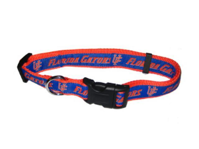 Doggination Florida Gators Dog Collar-Ribbon Medium