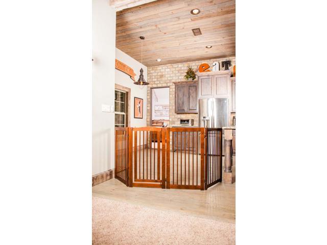 Primetime Petz Home Indoor Safety Gate 360deg Configurable Safety Gate with Door 36