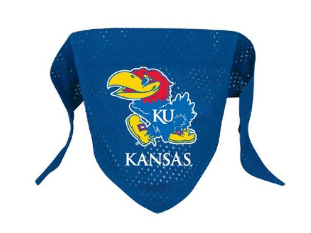 Hunter Team Logo Kansas Jayhawks Dog Bandana-Mesh Small