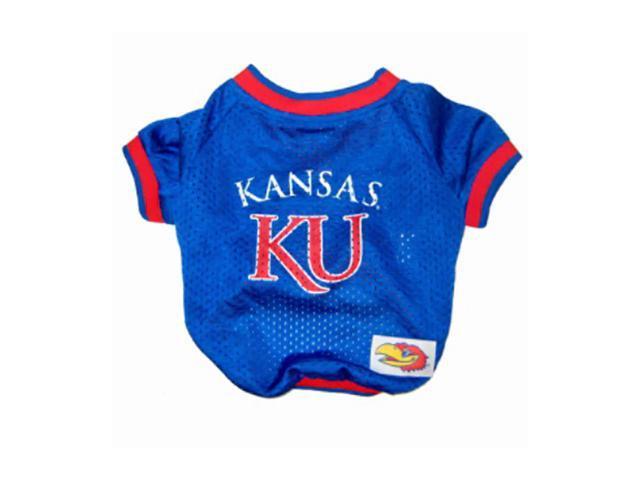 Pets First Sports Team Logo Kansas Jayhawks Dog Jersey Small