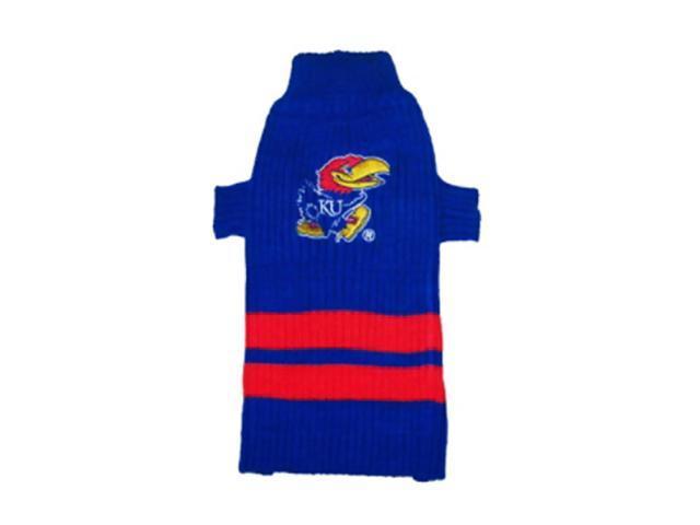 Pets First Sports Team Logo Kansas Jayhawks Dog Sweater Xtra Small
