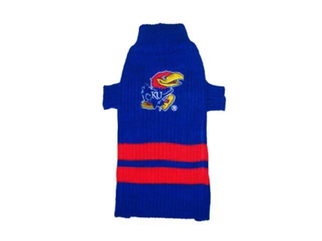 Pets First Sports Team Logo Kansas Jayhawks Dog Sweater Small