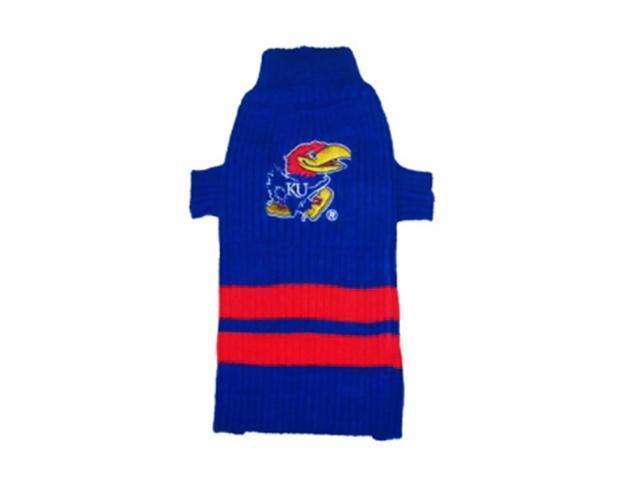 Pets First Sports Team Logo Kansas Jayhawks Dog Sweater Medium