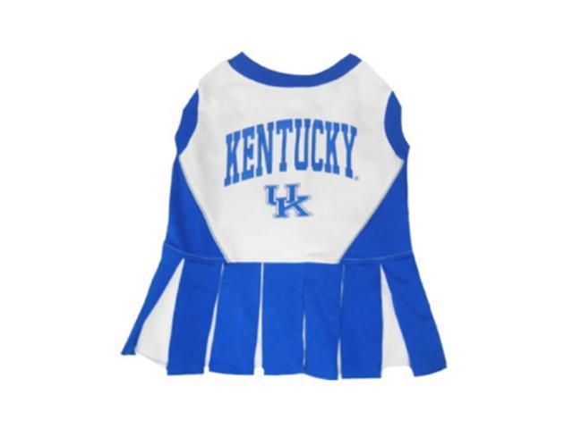 Pets First Sports Team Logo Kentucky Wildcats Cheerleader Dog Dress Small