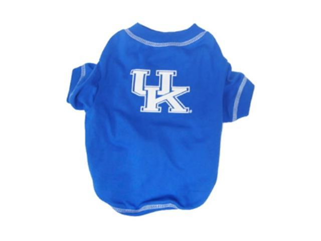 Pets First Sports Team Logo Kentucky Wildcats Dog Tee Shirt Large