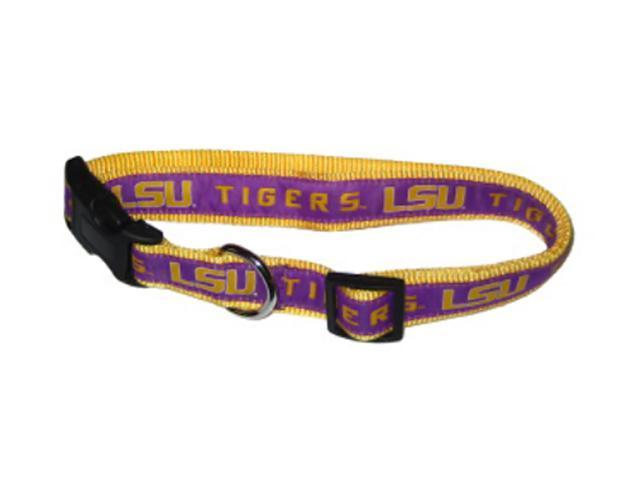 Doggienation Team Logo LSU Dog Collar-Ribbon Medium