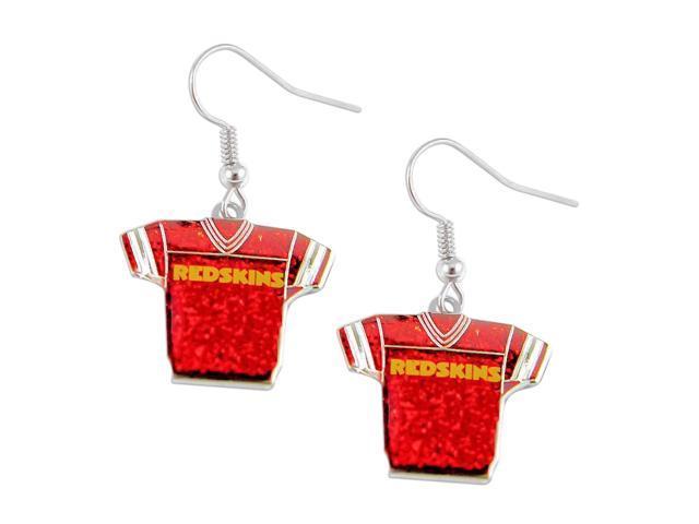 NFL Washington Redskins Glitter Jerseys Sparkle Dangle logo Earring Set Charm Gift