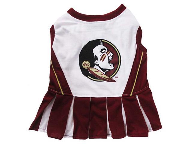 Pets First Sports Team Logo Florida State Cheerleader Dog Dress Xtra Small