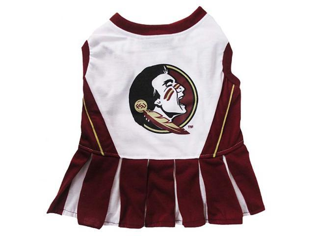 Pets First Sports Team Logo Florida State Cheerleader Dog Dress Small