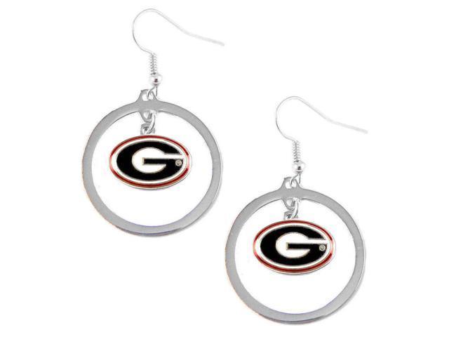 Georgia Bulldogs Hoop Logo Earring Set Ncaa Charm
