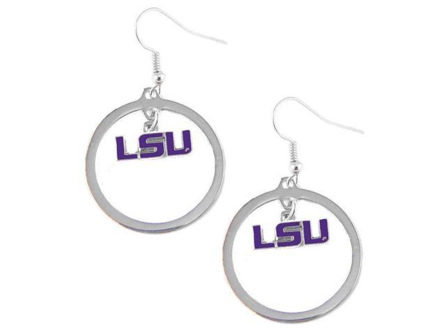 LSU Tigers Hoop Logo Earring Set Ncaa Charm