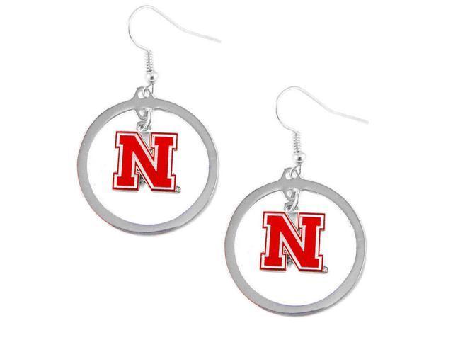 Nebraska Huskers Cornhuskers Hoop Logo Earring Set Ncaa Charm