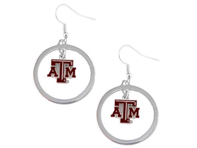 Texas A & M Aggies Hoop Logo Earring Set