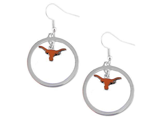Texas Longhorns Hoop Logo Earring Set Ncaa Charm