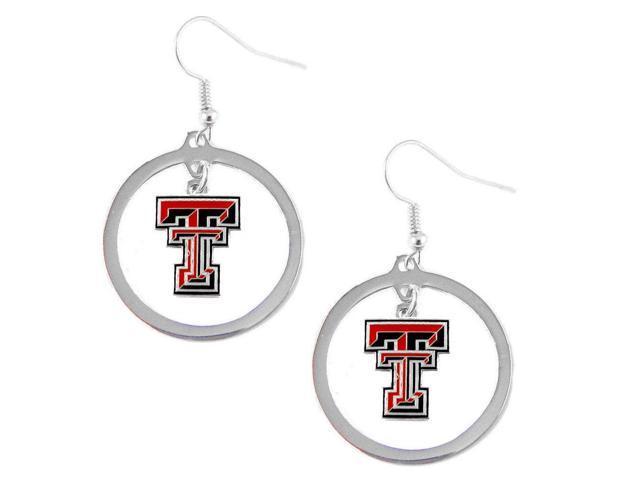 Aminco Texas Tec Raiders Hoop Logo Earring Set