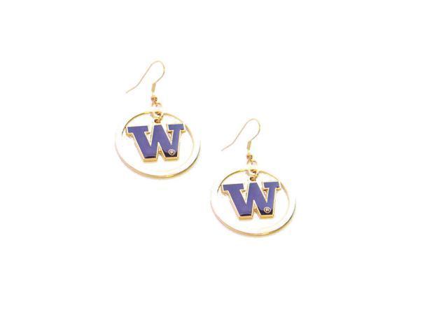 Washington Huskies Hoop Logo Earring Set Ncaa Charm