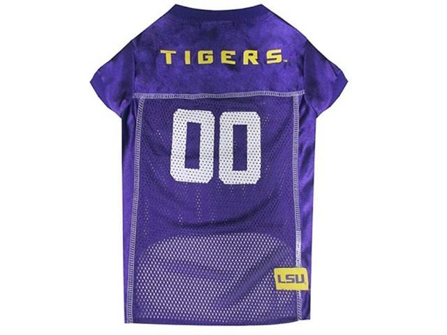 Pets First Sports Team Logo LSU Tigers Dog Jersey Medium